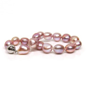 HinsonGayle AAA Handpicked 10-11mm Ultra-Iridescent Pink Baroque Freshwater Cultured Pearl Bracelet