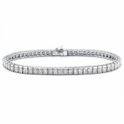 4.00 ct Ladies Princess Cut Diamond Tennis Bracelet In Channel Setting