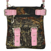 (AM3-1)Mossy Oak Camouflage Print Crossbody Handbag Purse Adjustable Strap Messenger Bag-MT18535-MO/PK