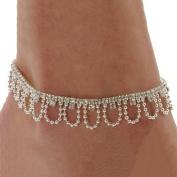 Celeb Crystal Charm Drop Ankle Chain Bracelet Anklet Wedding Jewellery