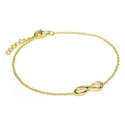18k Gold Dipped Sterling Silver Fine Infinity 18cm Bracelet with Extender