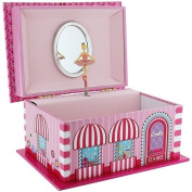 """Mele Girl's """"Candy Store"""" Musical Jewellery Box With Mirror & Wind Up Key."""