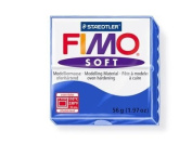 Fimo Soft Brilliant Blue 56g Polymer Clay Block, Fimo Colour Reference 33 -