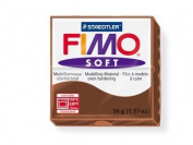 Fimo Soft Chocolate 56g Polymer Clay Block, Fimo Colour Reference 75 -