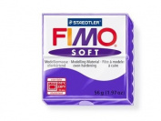 Fimo Soft Plum 56g Polymer Clay Block, Fimo Colour Reference 63 -