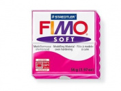 Fimo Soft Raspberry 56g Polymer Clay Block, Fimo Colour Reference 22 -