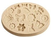 Flexible Clay Mould - Bows And Flowers -