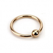 Rose Gold Plated Captive Bead Ring (CBR) / Ball Closure Ring / Hoop - 1.2mm x 8mm