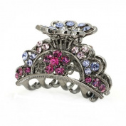 Glamorousky Elegant Hair Clip in Pink and Purple. Element Crystals