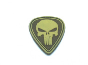 Punisher Teardrop Tan PVC Airsoft hook and loop Patch