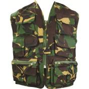 Highlander Kids Unlined Gilet Vest Waistcoat Jacket - Camo