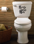 Myrtle Was Here Harry Potter Funny Toilet Decal/Sticker Home 150mm