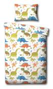 Children's Dinosaur Single Duvet Cover Bed Set Inc. Pillowcase