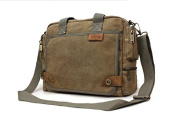 Outdoor Peak Mens canvas bag work travel Briefcase Laptop Satchel Shoulder Messenger Bag for 36cm Laptop