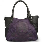Loungefly Purple Tweed Sugar Skull Cross Body Handbag