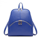 Molly Womens Preppy Style Soft Leather Pure Colour Simple Backpack