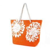 Womens/Ladies Floral Print Woven Summer Handbag
