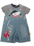 BNWT baby boys all in one denim teddy ahoy dungaree & T-shirt outfit