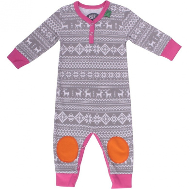 Fred's World by Green Cotton Baby Girls 0-24m Nordic Bodysuit Footies