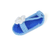 JTC Flower Baby Girls Sandal Crochet Shoes 0-18 Mon First Walking Shoes Infant Gift For Baby 4 Colours