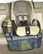 Car Seat Protector & Tote Bag Includes Portable Toy Tote Bag Buckles Securely to Mat