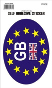 Car Euro Oval With GB Sticker High Quality