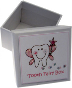 White Cotton Cards Girls Tooth Fairy Tooth Box