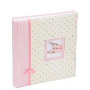 Kenro baby girl pink ribbon design traditional photo album with 50 sheets / 100 pages
