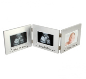 Baby Scan - Aluminium Triple Frame 1st Scan/2nd Scan/Here I Am