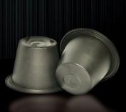 CM Caspules 100pcs Larger Capacity New Nespresso Empty Coffee Capsule Compatibile with All the Lastest Nespresso Machines (Fillable Tea or Coffee) +100pcs CM Lids (Self Adhesive Aluminium Lid)-6g Capacity