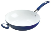 Silverstone Stir Fry with Handle, Blue