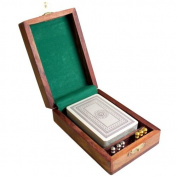 Single Pack Cribbage Box with Brass Pegs