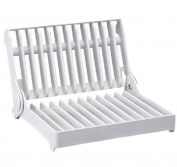 1Pcs Useful Foldable Kitchen White Plastic Dish Rack Tools Kitchen Drainer Rack Drip Shelf Plate Rack Organiser