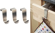 3 x OVER KITCHEN CABINET AND DRAW HOOKS - fits draws up to 2cm wide.