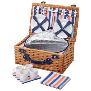 Coolmovers Seafarer Four Person Fitted Picnic Basket