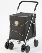 Sholley Deluxe with black and tan bag. Unisex Shopping Trolley.