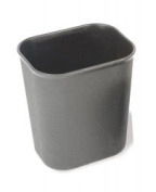 Fire Resistant bin 6.6L-6.6l Grey by Chabrias Ltd