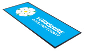 Yorkshire Gods Own County Blue Design bar runner great for home bar shop cocktail party advertising tool bar mat