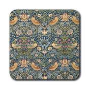 Castle Melamine William Morris Strawberry Thief Coasters - Set of 6