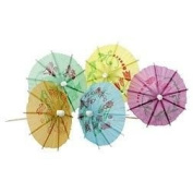Finishes Touches Party Store Cocktail Umbrella's Tropical X 12 - Finishing Touch