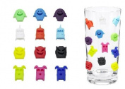 8 Glass Markers Monsters Alien Design Party Silicone Wine Bottle Drinks Charms Identified Cocktails