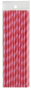 62465 Clayre & Eef - Drinking straws - Red with stripes (x 20) ca. 19cm