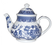BLUE WILLOW 1180ml teapot CHURCHILL CHINA, Made in England