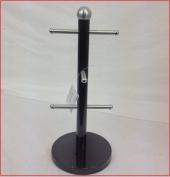 Mug Tree Kitchen Roll Holder Glass Holder BLACK
