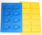 Building Bricks and Minifigure Ice Cube Tray or Candy Mould --for Lego lovers