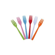 Rice Melamine Cake Forks in Assorted Bright Colours PF2017