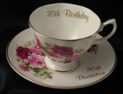 70th Birthday gift cup and saucer
