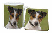 Jack Russell Terrier Dog Mug and Table Coaster, Ref:AD-JR57MC