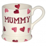 Emma Bridgewater Pink Hearts 'Mummy' Half Pint Mug