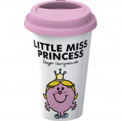 Creative Tops Mr. Men Little Miss Princess Take Away Double Walled Porcelain Travel Mug, Multi-Colour